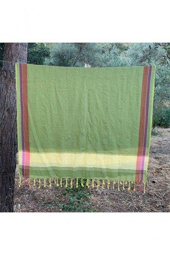 Green Anfora Beach Towel