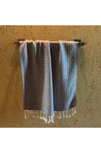 Dark Grey Deniz Hand Towel/Tea Towel