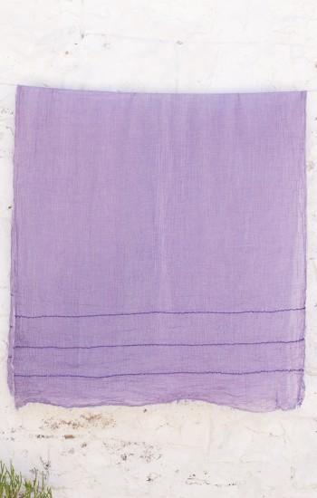 Purple Helen Gauze Scarf
