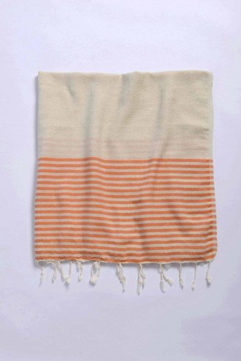 Orange Knidos Turkish Towel