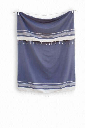 Grey Blue Olympos Turkish Towel