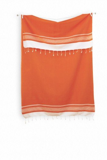 Orange Olympos Turkish Towel