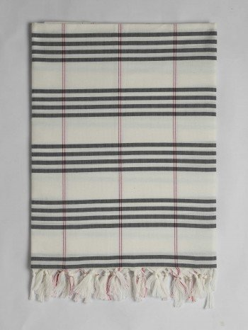 Grey Organic Cotton Turkish Towel Long