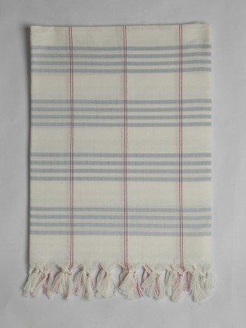 Light Blue Organic Cotton Turkish Towel Long