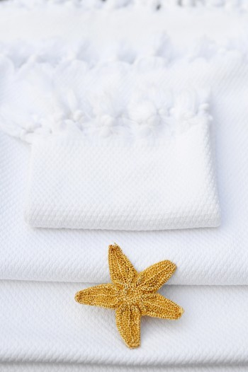 Pamukkale Washcloth - White