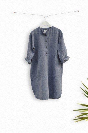 Marine Sile Tunic Dress