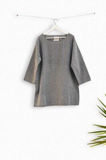 Charcoal Sile Tunic