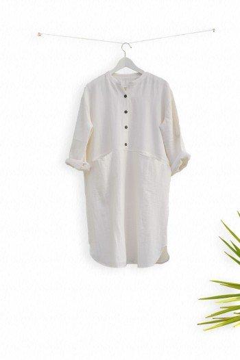White Sile Tunic Dress