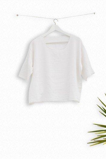 White Sile Basic Top