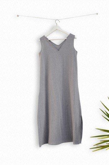 Grey Sile Tank Dress