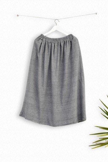 Charcoal Sile Skirt