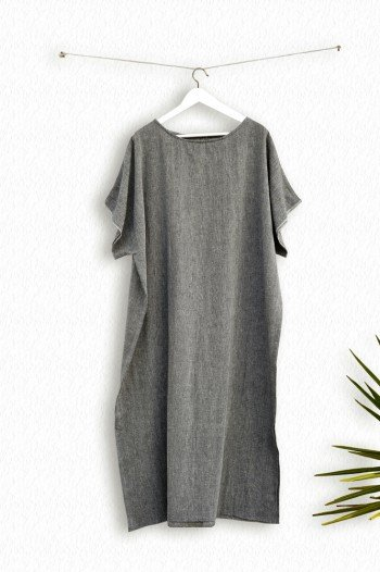 Charcoal Sile Caftan Dress