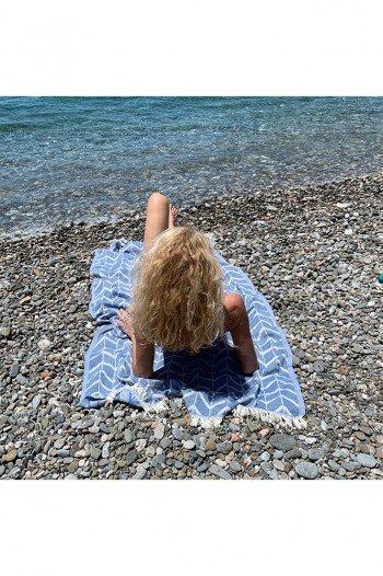 Marine Waves Beach Towel