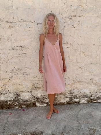Muslin Slip Dress Blush-Taupe