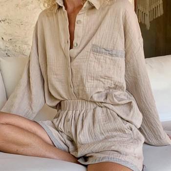 Muslin Shirt Taupe-Grey