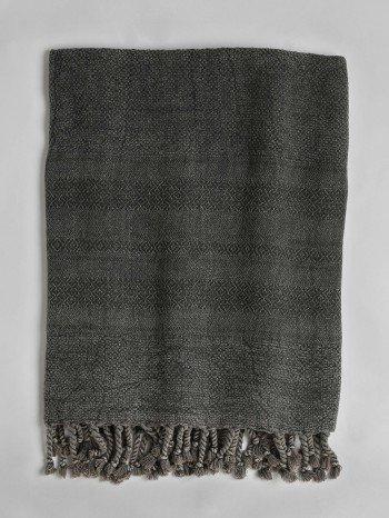 Stonewashed Turkish Towel - Dark Grey