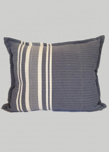 Grey-Blue Stripe Pillow Cover