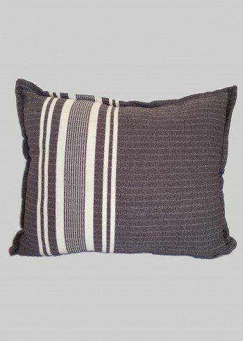 Roasted Coffee Stripe Pillow Cover