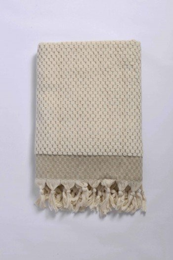 Beige Terry Bath Towel