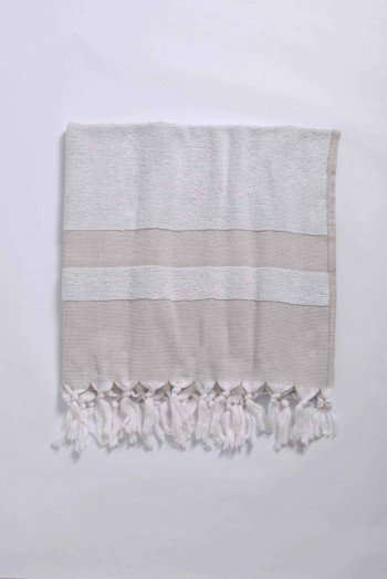 Beige terry Cloth Turkish Towel