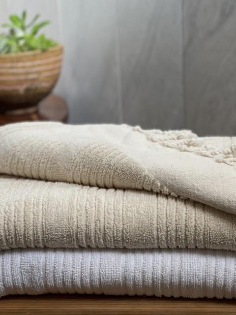White Ottoman Terry Hand Towel