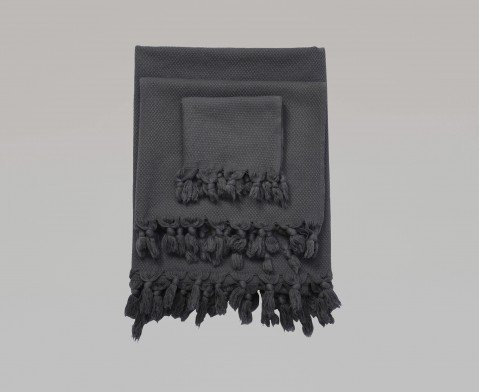 Pamukkale Washcloth - Dark Grey