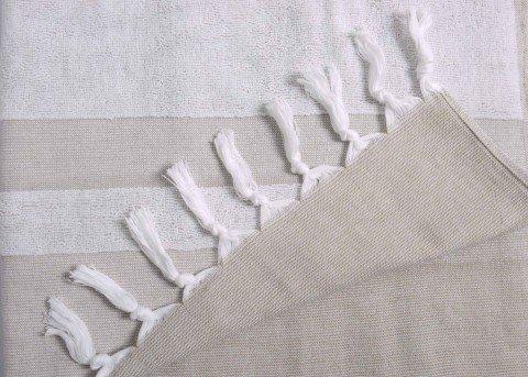 Beige terry Cloth Turkish Towel
