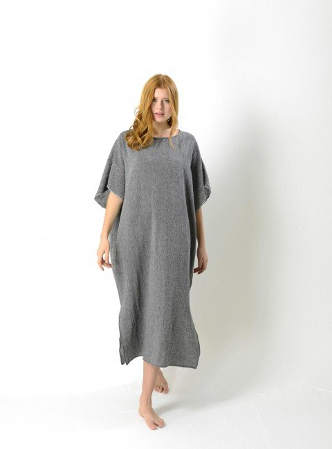 Charcoal Sile Caftan Dress
