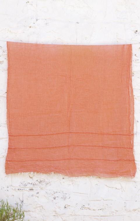 Orange Helen Gauze Scarf