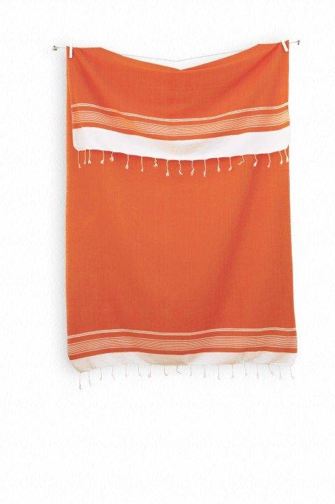 Orange Olympos Turkish Towel