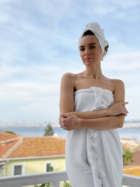 Pamukkale Bath Towel - White