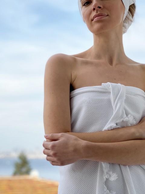 Pamukkale Hand Towel - White