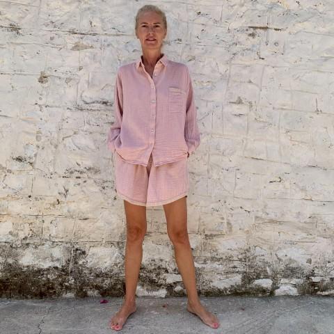 Muslin Shirt Blush-Taupe