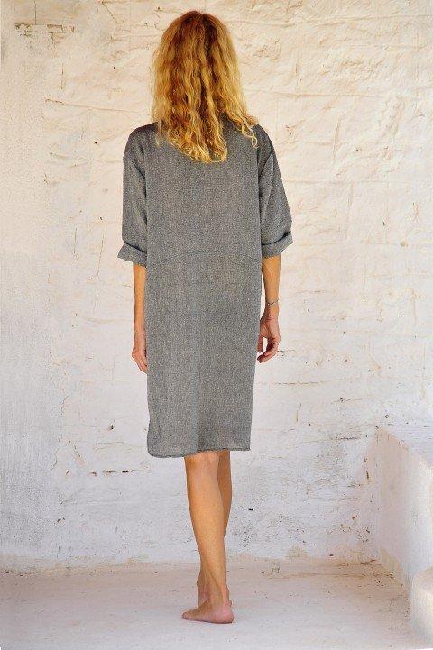 Charcoal Sile Dress