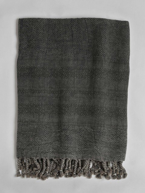 Stonewashed Turkish Towel - Dark Grey