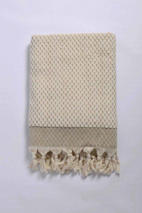 Beige Terry Bath Towel